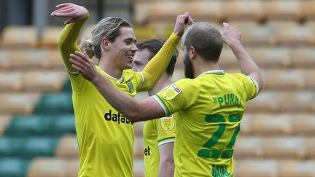 Teemu Pukki and Todd Cantwell scored in Norwich City's 3-0 Championship win against Luton Town