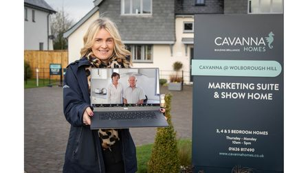 Picture of sales advisor selling home via a laptop