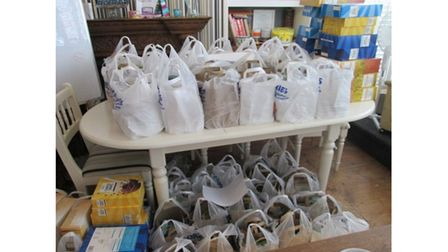 Picture of food bags for needy children