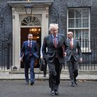 Prime Minister Boris Johnson leads colleagues to cabinet