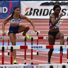 Emma Nwofor in action for Great Britain