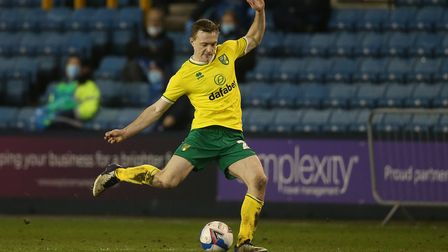 Oliver Skipp of Norwich in action during the Sky Bet Championship match at The Den, London