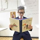School child dresses up as Sir Captain Tom Moore for World Book Day.