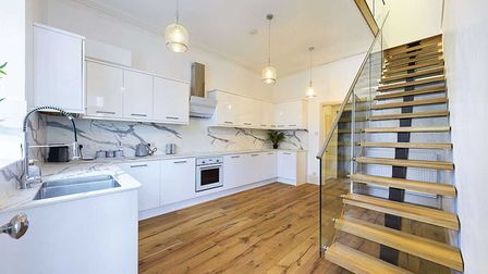 The bright and spacious kitchen.