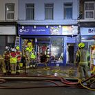 Firefighters tackled a blaze at New Local Tools.