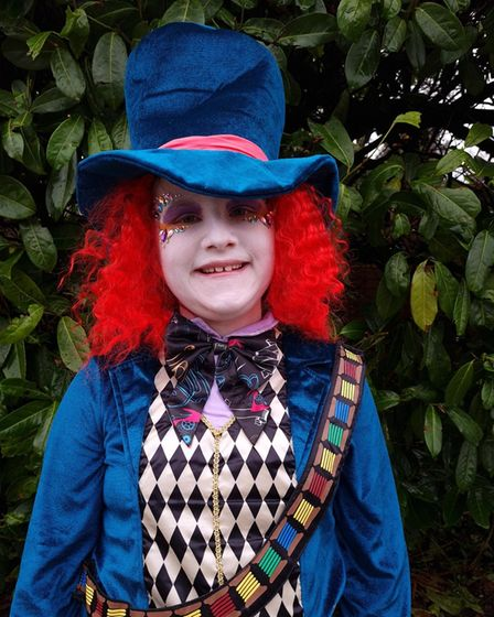 Chloe Chapman age 10 from Saffron Walden dressed up for World Book Day
