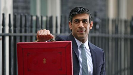 Chancellor of the Exchequer, Rishi Sunak outside 11 Downing Street