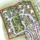 Proposed layout of 38 homes in Wedmore