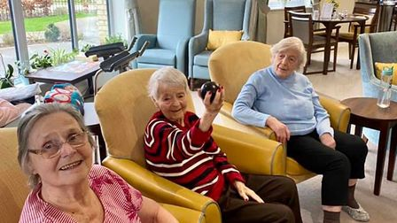 Residents at Ferrars Hall Care Home in Huntingdon