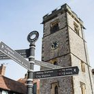 The medieval Clock Tower in St Albans