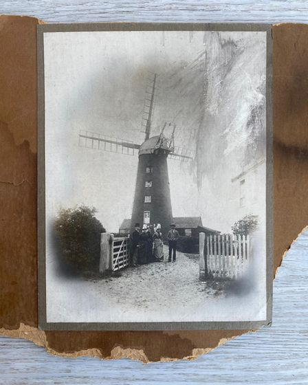 The mill that once stood at Cliff Hill Gorleston