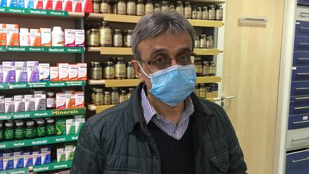 Dhimant Patel who owns the Collins Chemist, Church Street.