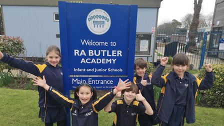 RA Butler Academy pupils in Saffron Walden were pleased to be back at school