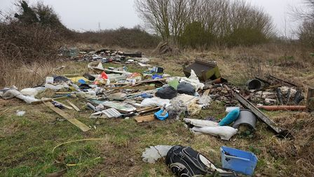 """Volunteers have been working to clean up New Drove and Halfpenny Lane in Wisbech following """"unrelenting"""" fly-tipping."""