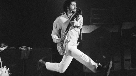 The Who's Pete Townshend wears Dr. Martens on stage at Wembley Arena during the band's The Who By Nu