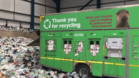 An East Devon recycling vehicle