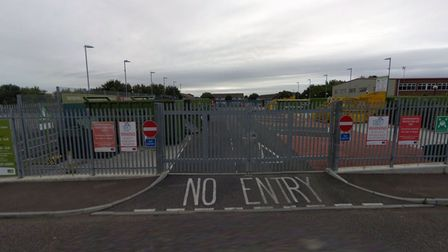 A fire broke out at Royston Recycling Centre