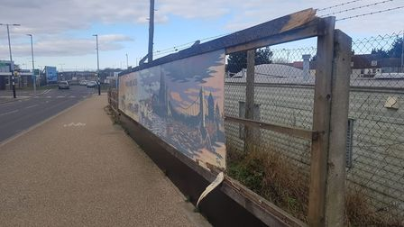 Transport mural Vauxhall Station Yarmouth