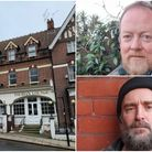The site of the new pub (left); landlords John Rynne (top right) and Michael Spurgeon (bottom right)