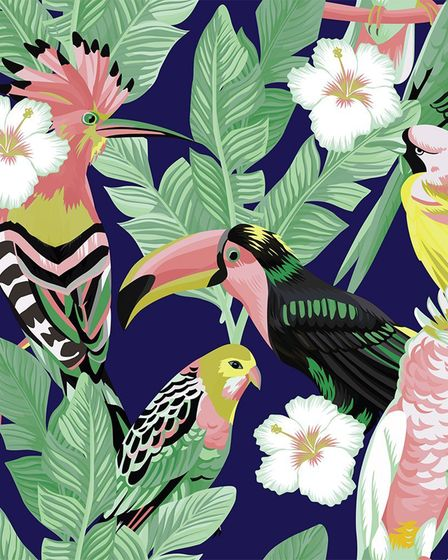 Undated handout of a JesRose Vinyl tropical bird print. See PA Feature HOMES Renting. Picture credit