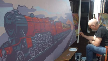 Vauxhall Station murals Great Yarmouth