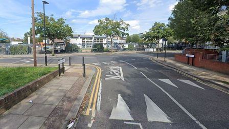 Maud Road, at the junction with Stratford Road, in Plaistow.