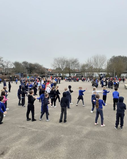 The school hosted two outdoor discos for Key Stage 1 and Key Stage 2 pupils