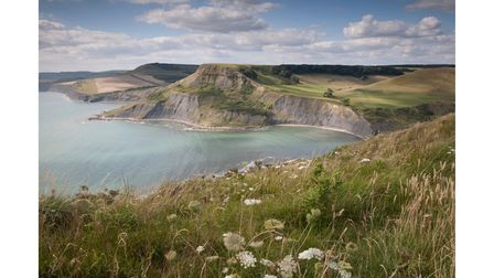 Chapmans Pool on the Isle of Purbeck in Dorset is a favourite swimming spot for Pip Hare