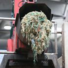 Plastic waste after being separated from the food waste at the Agrivert recycling plant in Colney He