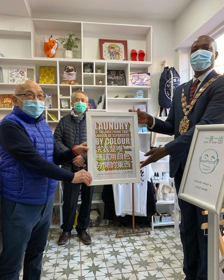Owner of the Steam Room, Tony Chung and Cllr Kam Adams, speaker of Hackney