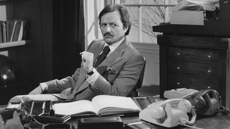 Actor Peter Bowles in a scene from the television sitcom To the Manor Born