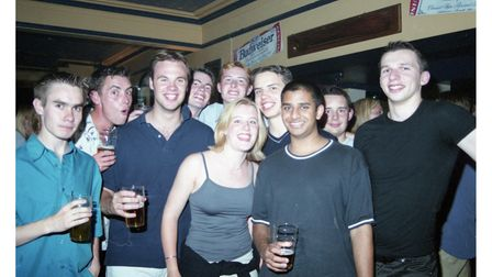 A group of friends on a night out at La Plage in 1999.
