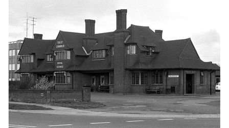 The Royal George Pub in Ipswich in1974