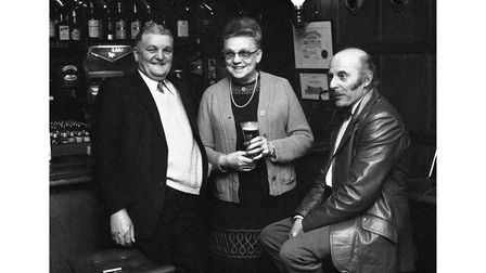 An evening at the Royal George pub, Ipswich, in 1974