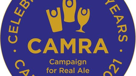 CAMRA's logo for its 50th anniversary.