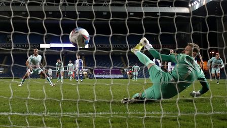 Swansea City's Andre Ayew scores against Blackburn Rovers