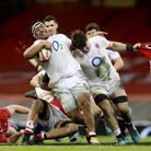 England's Mako Vunipola supported by Tom Curry breaks away during the Guinness Six Nations match against Wales