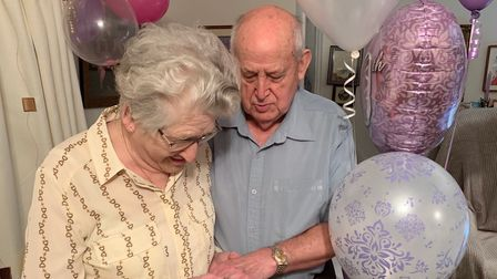 Pauline and Ivor Stammers, of Lowestoft, celebrated their diamond wedding anniversary last week in a very special way.