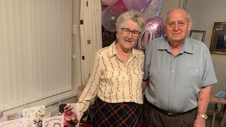 Pauline and Ivor Stammers, of Lowestoft, are all smiles after celebratingtheir diamond wedding anniversary.