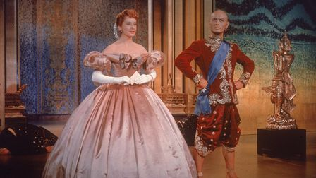 Yul Brynner, as King Mongkut, and Deborah Kerr, as Anna Leonowens, in The King and I
