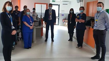 Newham Hospital staff in the new day emergency care centre.