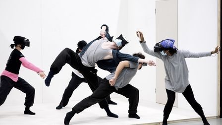 Rambert dancers in rehearsals for Rooms