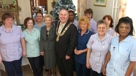 Cyril and Jean Webb when they were mayor and mayoress in 2005 making a Christmas Day visit to some of the nursing staff at...