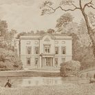A lithograph of Marshalls House, Romford in 1889.