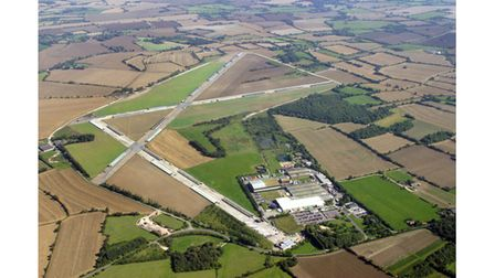 An overhead view of the current Bernard Matthews factory at Holton, near Halesworth airfield. Pictur