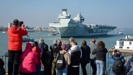 HMS Queen Elizabeth departs from Portsmouth on March 1 for sea trials in preparation of her first active deployment
