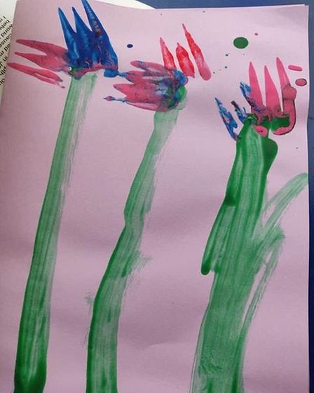 ChildminderJuliet Voisey submitted these flowers to the St Albans Rainbow Trail's initiative. The children created these...