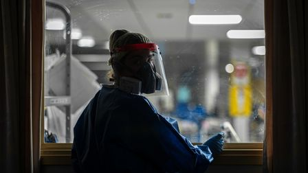Still from the new film being created about healthcare workers and the Covid pandemic, by Anglia Ruskin University's...