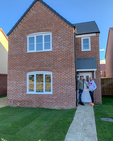 Craig and David Rowland-Barnes, at their new home in Ormesby