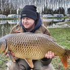 Paul Marriott landed a 17lb Carp at Long Island Lake in Earith.